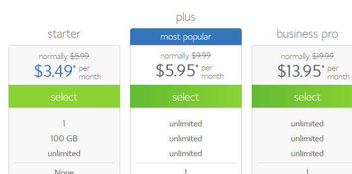 BlueHost Discounted plans - BlueHost coupon code