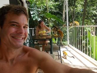 Ryan And Kelli Feeding monkeys