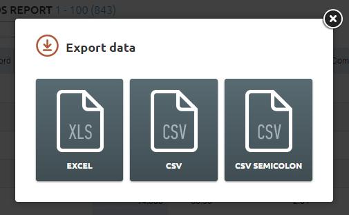 Export in SEMrush