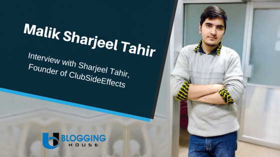 Interview with Sharjeel Tahir